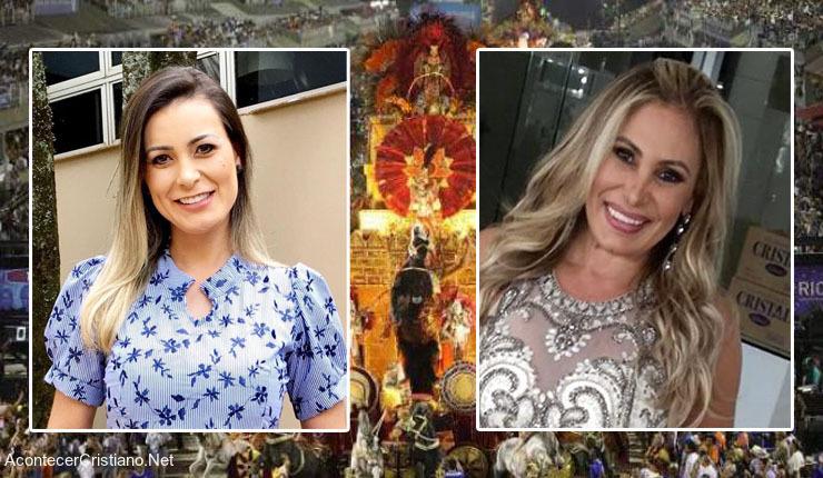Ex modelos brasileñas Andressa Urach y Angela Bismarchi