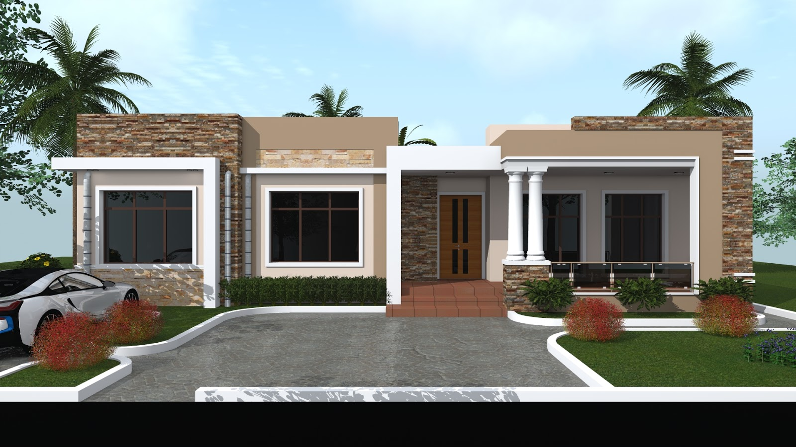 3 bedroom s House Plan (Flat Roofing - ID MA 92 )