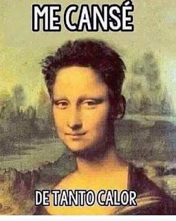 Mona Lisa, me cansé de tanto calor, pelo corto