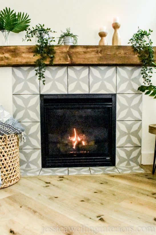 How to paint fireplace tile