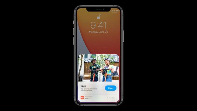مقاطع التطبيق لـ iPhone