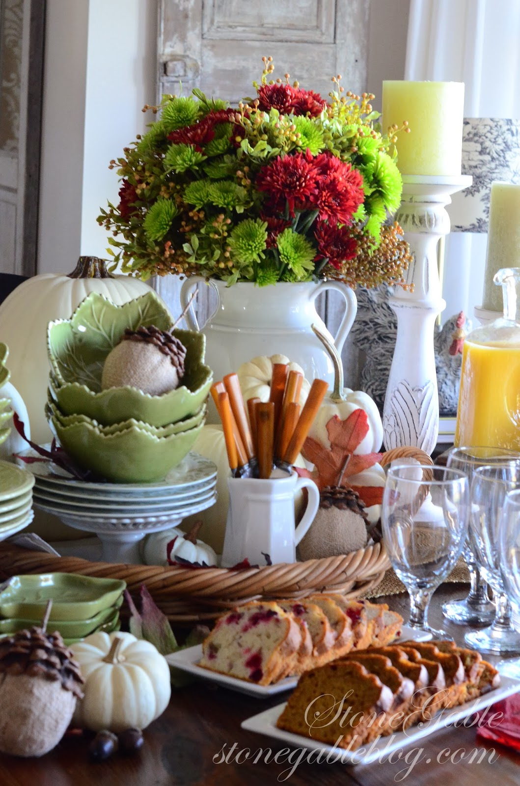 Thanksgiving Continental Breakfast Vignette Stonegable