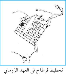 الموسوعة المدرسية - تخطيط قرطاج في العهد الروماني