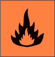 simbol mudah terbakar - simbol kimia berbahaya
