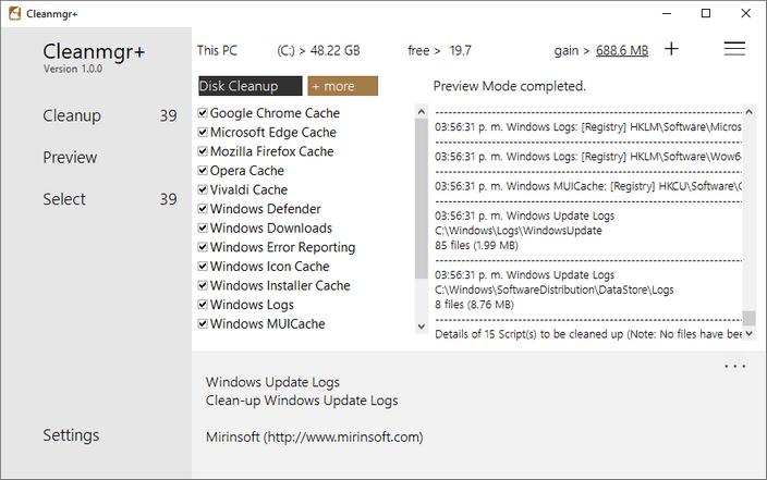 Cleanmgr+ alcanza su primera versión estable