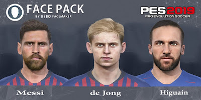 PES 2017 Facepack Messi, de Jong, Higuain by Bebo