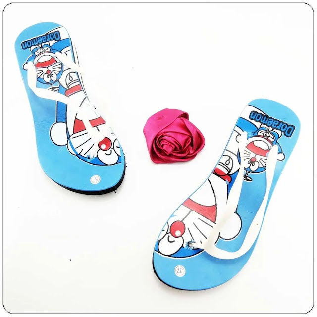 Grosir Sandal Karakter Murah - Sandal AMX Wedges Karakter Wanita