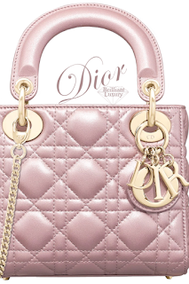 Dior Lady Dior lotus pearly mini top handle bag #brilliantluxury