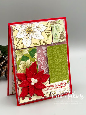 Easy Layered Card using Poinsettia Petals Stamp Set from Stampin' Up! by Rick Adkins