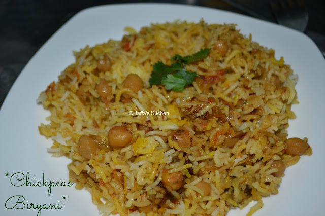 Chickpeas Biryani - Rice