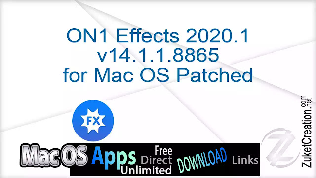 ON1 Effects 2020.1 v14.1.1.8865 for Mac OS Patched