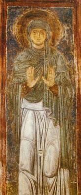 St. Macrina the Younger (fresco in Saint Sophia Cathedral in Kiev)
