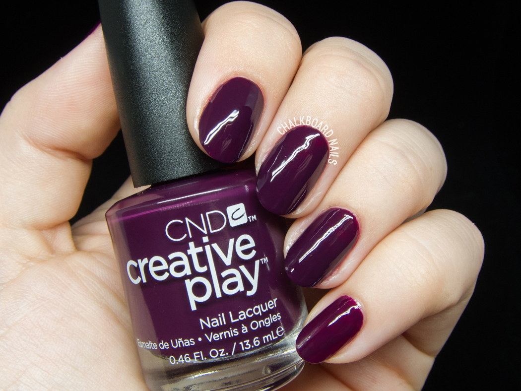 CND Creative Play - Naughty or Vice @chalkboardnails