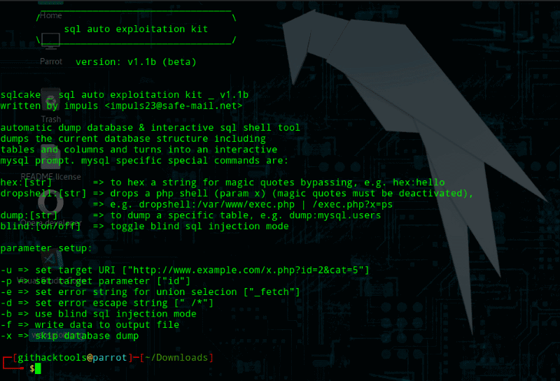 sqlcake - Automatic SQL Injection Exploitation toolkit