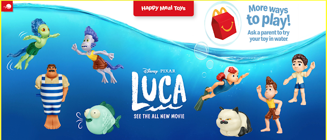 Disney Pixar Luca Happy Meal Toys