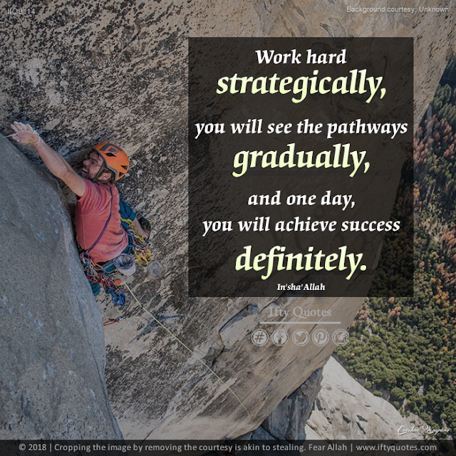 Ifty Quotes | Work hard strategically, you will see the pathways gradually, and one day, you will achieve success definitely. | Iftikhar Islam