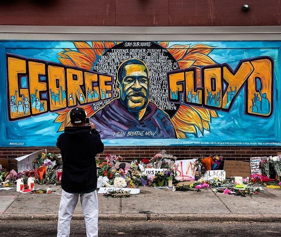 George Floyd, an African-American man