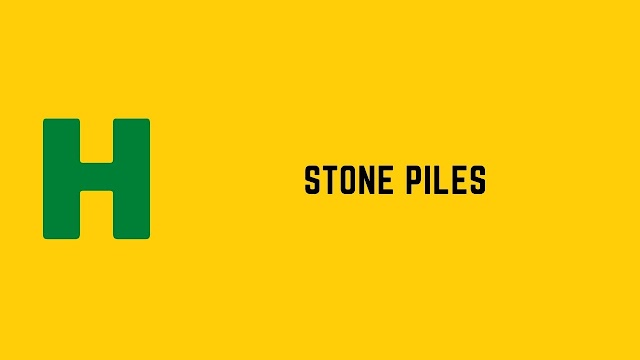 HackerRank Stone Piles problem solution