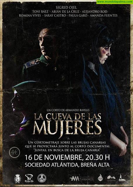La Sociedad Atlántida de Breña Alta acogerá este viernes la proyección de la película 'La Cueva de las Mujeres' en la que interviene la actriz de la Villa, Amanda Fuentes