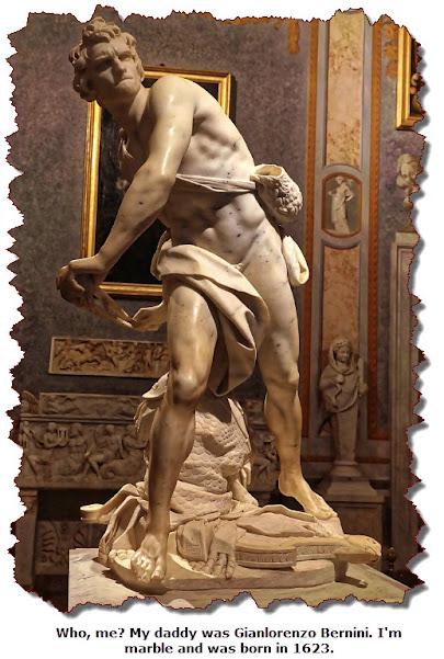 David. Artist: G. Bernini. Circa 1623.