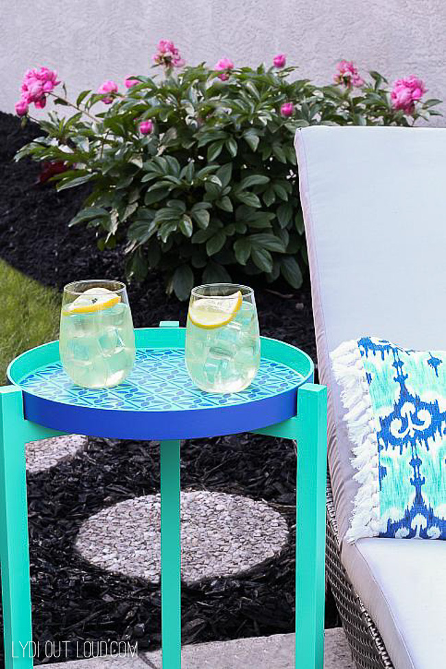 Bright painted outdoor table