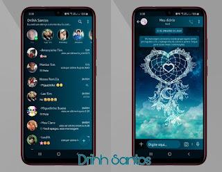 Love on Moon Theme For YOWhatsApp & Fouad WhatsApp By Driih Santos