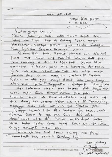 Contoh Surat Pribadi untuk Kakak  (via: contohsurat.co)
