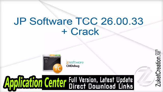 JP Software TCC 26.00.33 + Crack