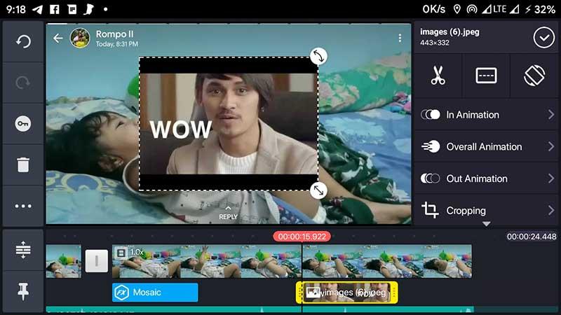 Menambah overlay media