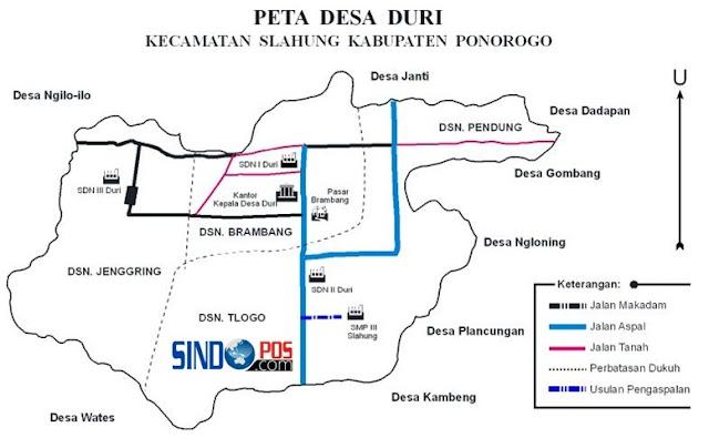 Profil Desa & Kelurahan, Desa Duri Kecamatan Slahung Kabupaten Ponorogo