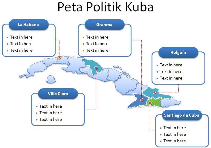 image: Slide 2 Template Powerpoint Peta Kuba