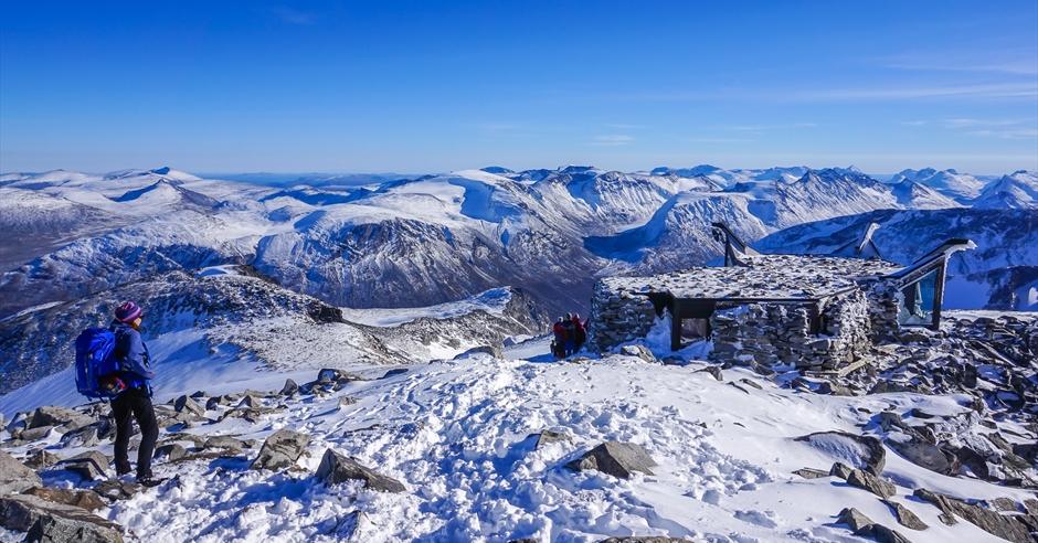 Гора Галдхёппинген в Норвегии