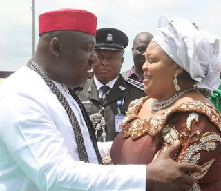 Gov. Rochas Okorocha Under Fire For Putting Wife in Charge of 4 Ministries