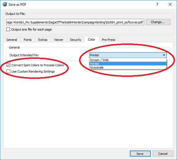 Make Sure You Also Check The Convert Spot Colors To Process Checkbox As Well Wont Be Using For Print On Demand