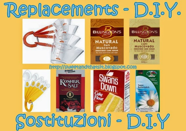 Ingredients Replacements or D.I.Y. - Come Sostituire gli Ingrediente o Farli in Casa