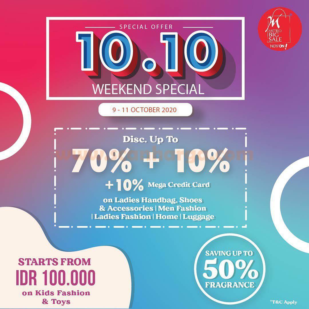 Promo METRO BIG SALE Weekend Special – Diskon 70% + 10% dengan Kartu Kredit Bank MEGA