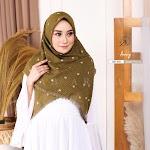 Hijab AR Rafi AR 410 | Hijab Segi Empat Motif