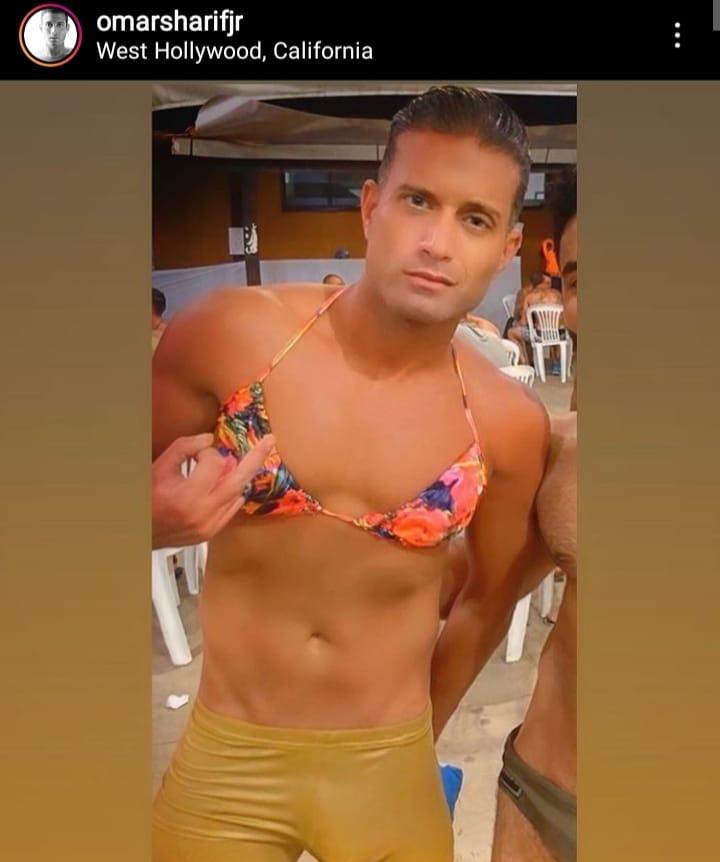 حفيد عمر الشريف يرتدى حمالة الصدر