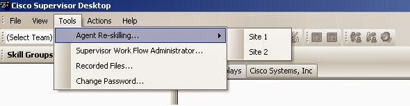 Ciscoshizzle: UCCE Supervisor agent Reskilling, using