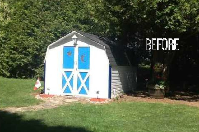ugly shed before