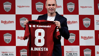 Iniesta, number 8 of the Vissel Kobe!