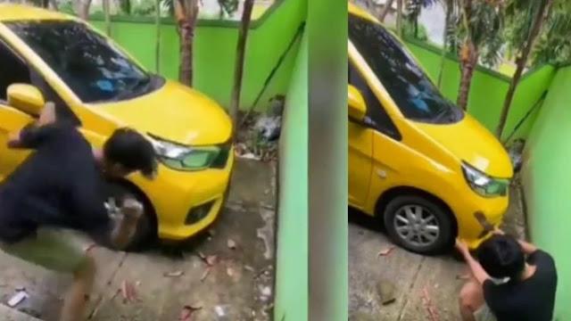 Viral Pria Rusak Mobil karena Mau Ditarik Leasing
