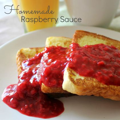 Homemade Raspberry Sauce