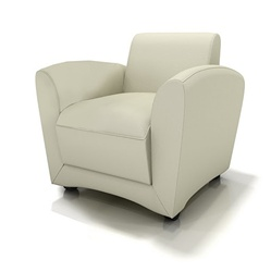 Contemporary Leather Lounge Chair