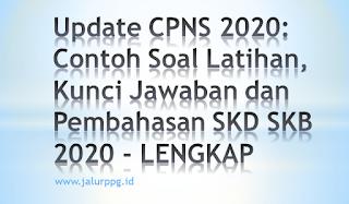 Update CPNS 2020 Contoh Soal Latihan Kunci Jawaban dan Pembahasan SKD SKB 2020
