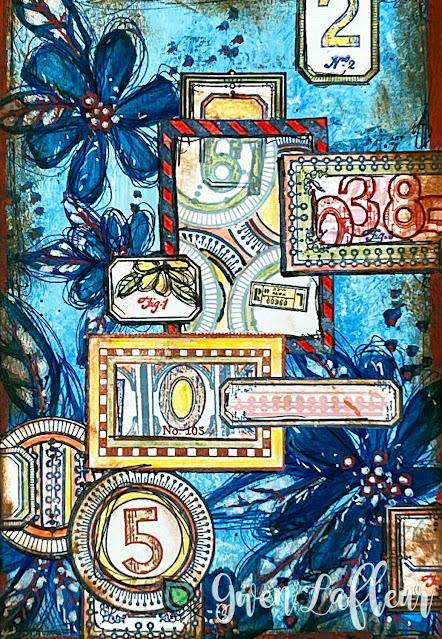EGL21 Stamp Set - Labels Collage - Gwen Lafleur