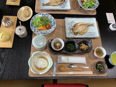 桜田温泉の朝食