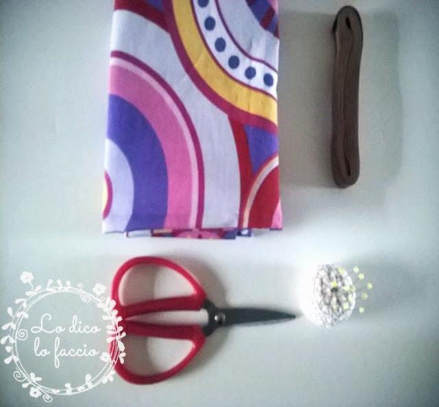 material cucito per sacchetto