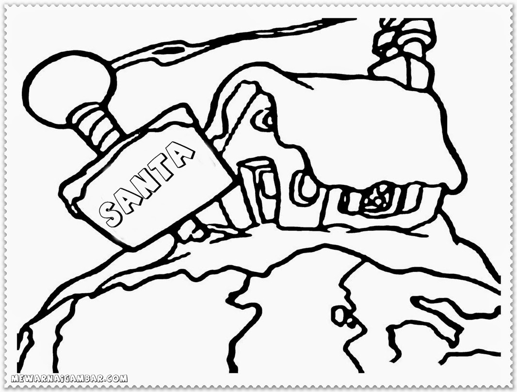 Christmas Coloring Pages North Pole