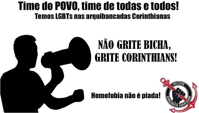 Coletivo Democracia Corinthiana pede o fim do grito homofóbico nos estádios